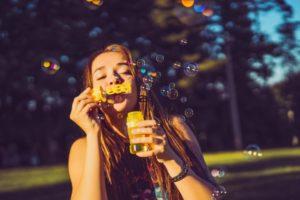 gioco bolle di sapone mindful